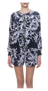 Whisltes- Orchid Print Silk Bomber, £155