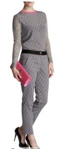 Ted Baker - Rosaro geo printed trouser, Amberley geo print knit