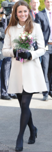 The pregnant Duchess of Cambridge with her tiny wee bump!