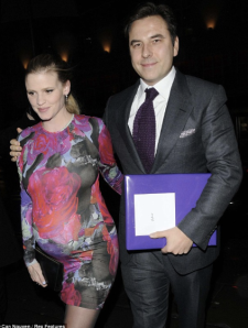 About to pop, Lara Stone rocking a minin dress