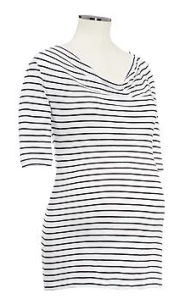 Gap - Striped slub cowl neck T, £14.95