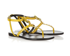 Burberry- Studded leather sandals, £315