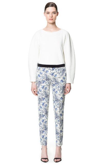 Zara - Floral Print Trousers, £35.99