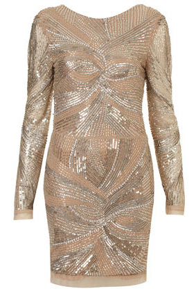 Topshop- Embellished body con dress, £110