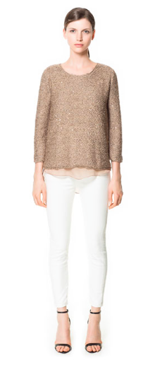 Zara- Sequinned Sweater, £45.99