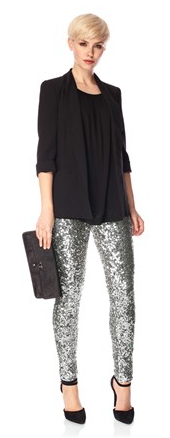 French Connection- Ozlem sequin leggings, £120