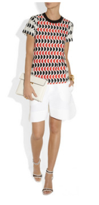 Marni- printed cotton jersey and cotton canvas t- shirt, £220