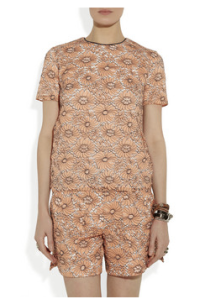 Mulberry- Cotton blend lace top, £495