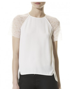 Whistles- Sporty lace sleeve top, £95