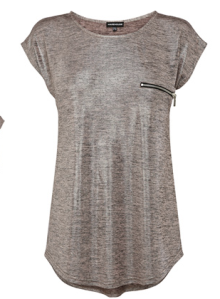 Warehouse- Metallic knit tee, £28