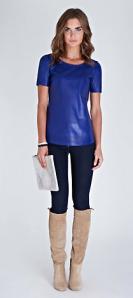 Baukjen- Liv leather tee, £249