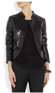 Jil Sander -Nostradamus peplum back leather jacket, £2280