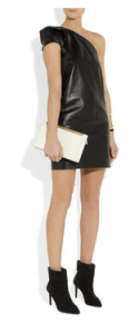 Saint Laurent- Asymmetic leather dress, £2400