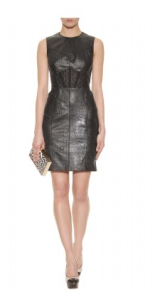 Jason Wu- Leather shift dress with lace panel, £2699