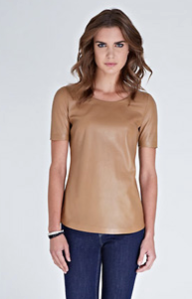 Baukjen- Liv leather Tee, £249