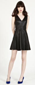 Oasis- Leather skater dress, £120
