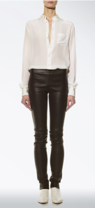 Joseph- Leather and gaberdine stretch legging, £495