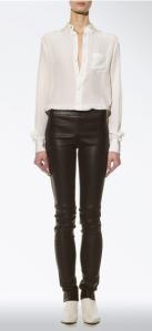 Joseph- Leather and gaberdine stretch legging, £495