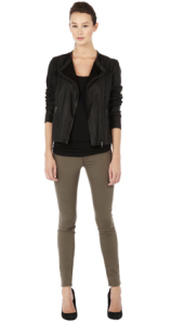 Warehouse- Soft leather biker, £140
