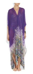 Etro- Printed silk maxi kaftan, £545