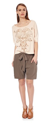 French Connection - Infinity drape tie waist shorts, £62