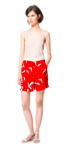 Zara- Bird print shorts, £29.99