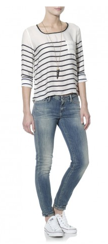 Maison Scotch- Silky Stripe Top, £98 reduced to £45